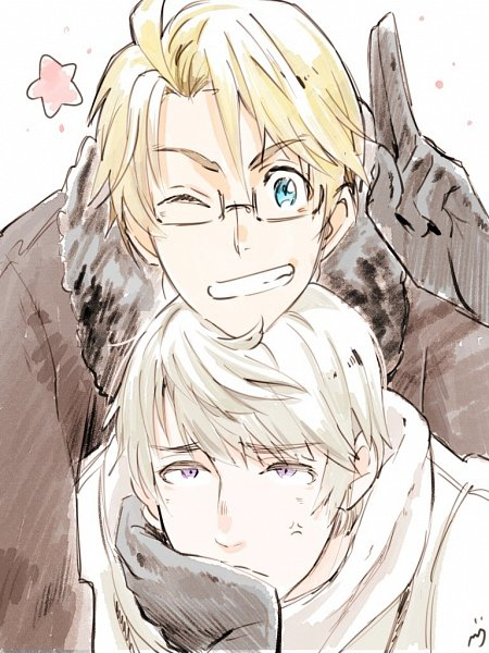 Tags: Anime, Pixiv Id 1061587, Axis Powers: Hetalia, United States, Russia, Pixiv, Fanart From Pixiv, Fanart, RusAme