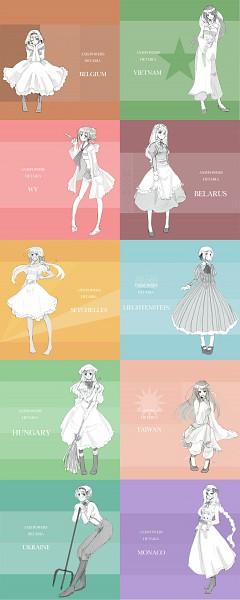 Tags: Anime, Maru / まる, Axis Powers: Hetalia, Vietnam, Liechtenstein, Principality of Wy, Taiwan, Ukraine, Seychelles, Monaco, Hungary, Belgium, Belarus