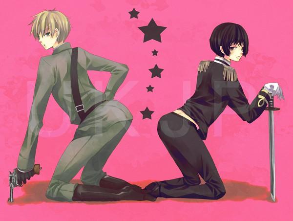 Tags: Anime, Pixiv Id 3608836, Axis Powers: Hetalia, United Kingdom, Japan, Fanart, Pixiv
