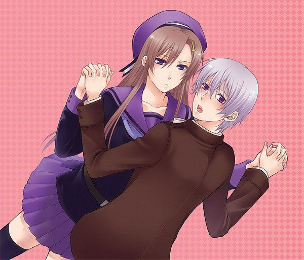 Tags: Anime, Axis Powers: Hetalia, Iceland, Norway (Female), Nyotalia, Artist Request, Nordic Countries