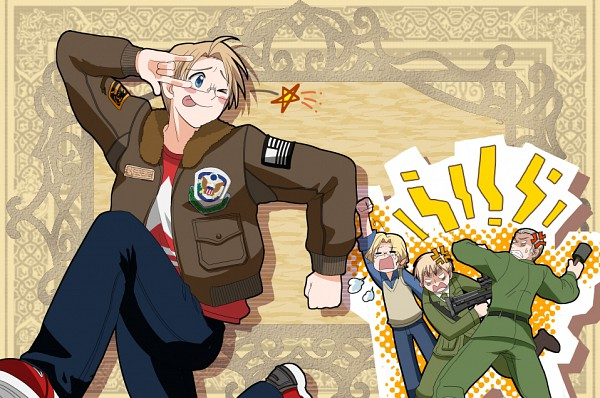 Tags: Anime, Axis Powers: Hetalia, Canada, United Kingdom, United States, Germany, ;P, Axis Power Countries, Allied Forces
