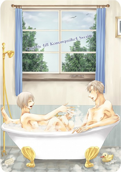 Tags: Anime, Axis Powers: Hetalia, Sweden, Finland, Shower (Object), Bathroom, Shower, Mobile Wallpaper, Artist Request