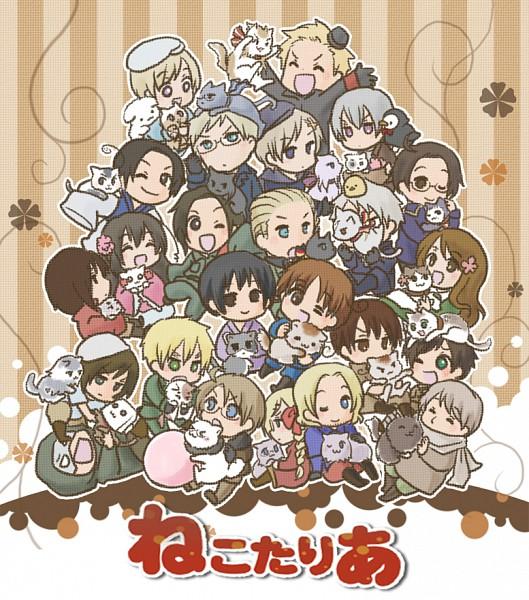 Tags: Anime, Rihito (a*ratama), Axis Powers: Hetalia, Turkeycat, United States, Norway, Chinacat, China, South Italy Cat, Denmark, Monaco, Taiwan, Japancat