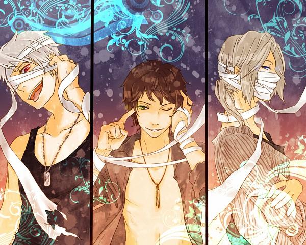 Tags: Anime, Irreale Rasen, Axis Powers: Hetalia, Spain, Prussia, France, Pixiv, Fanart