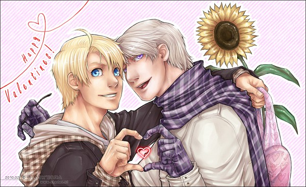 Tags: Anime, Alatherna, Axis Powers: Hetalia, United States, Russia, Heart Gesture Duo, deviantART, Soviet Union, Allied Forces