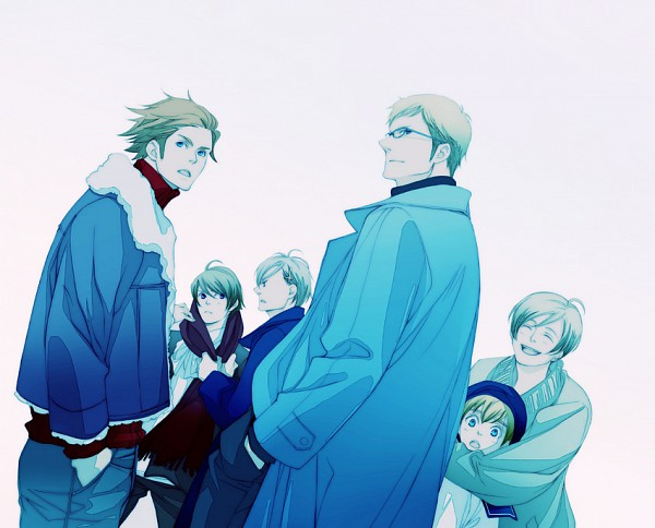 Tags: Anime, Pixiv Id 1141228, Axis Powers: Hetalia, Finland, Sweden, Denmark, Iceland, Norway, Nordic Countries