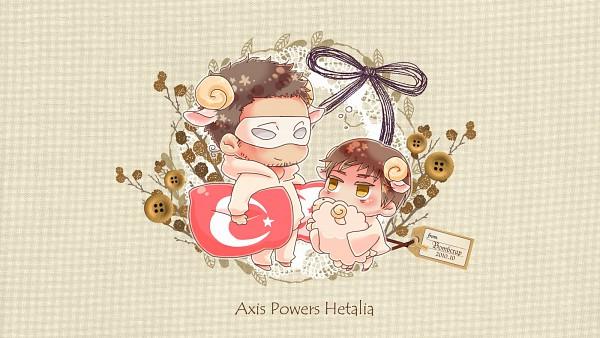 Tags: Anime, Axis Powers: Hetalia, Republic of Northern Cyprus, Turkey, Artist Request, Wallpaper, Mediterranean Countries