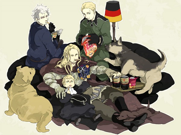 Tags: Anime, Pixiv Id 81223, Axis Powers: Hetalia, Germania, Holy Roman Empire, Germany, Prussia, German Shepherd, Axis Power Countries