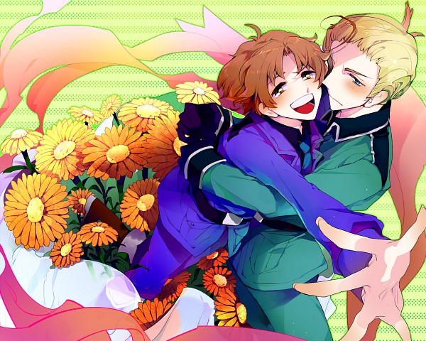Tags: Anime, Pixiv Id 196329, Axis Powers: Hetalia, Germany, North Italy, Pixiv, Mediterranean Countries, Axis Power Countries