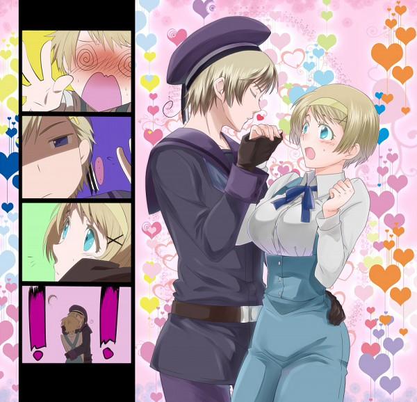 Tags: Anime, Miyama Yomema, Axis Powers: Hetalia, Norway, Ukraine, O O, @_@, Nordic Countries