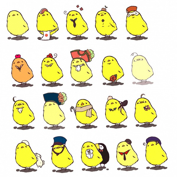 Tags: Anime, nuko8100, Axis Powers: Hetalia, United States, Turkey, Japan, Canada, Gilbird, North Italy, Spain, Iceland, Russia, Finland