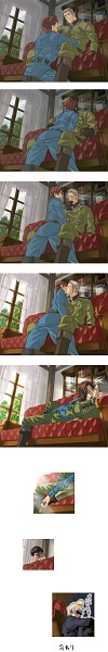 Tags: Anime, Pixiv Id 994187, Axis Powers: Hetalia, North Italy, Prussia, Gilbird, Japan, Germany, Yaoi Fan, Comic, Asian Countries, Mediterranean Countries, Axis Power Countries