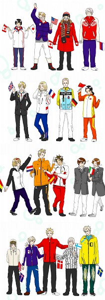 Tags: Anime, Axis Powers: Hetalia, France, Denmark, Germany, Norway, Japan, Canada, North Italy, South Italy, Spain, Iceland, Russia