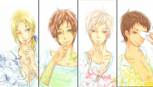 Tags: Anime, Axis Powers: Hetalia, France, Turkey, Spain, Prussia, Wallpaper, Facebook Cover, Artist Request, Mediterranean Countries, Allied Forces