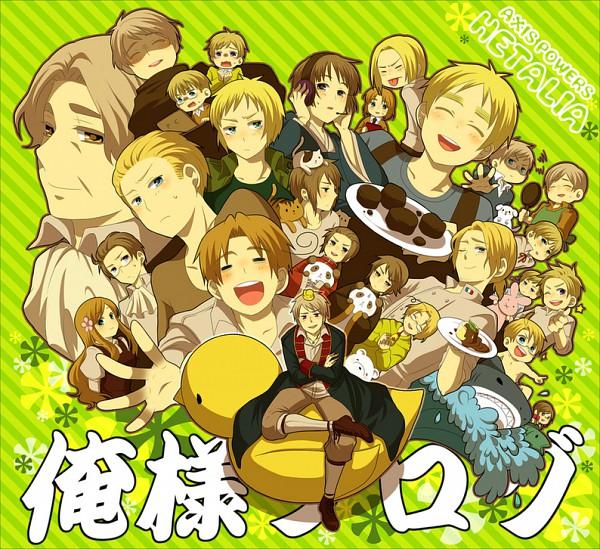 Tags: Anime, Axis Powers: Hetalia, Lithuania, Sweden, Hungary, United States, Iceland, Seychelles, Russia, Denmark, Friedrich II, Hong Kong, Germany