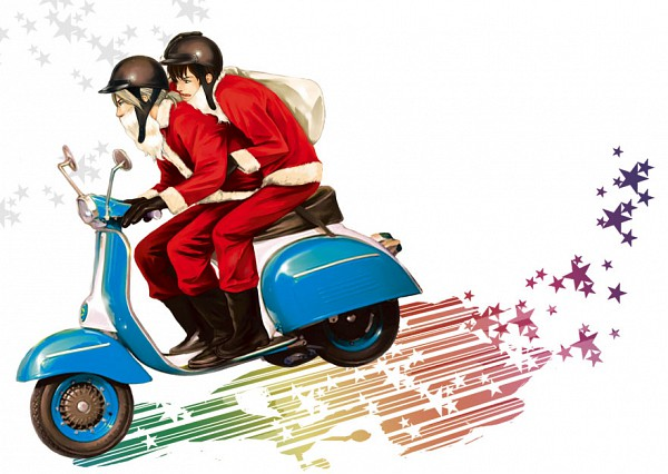 Tags: Anime, Pixiv Id 1539992, Axis Powers: Hetalia, France, Spain, Scooter, Pixiv