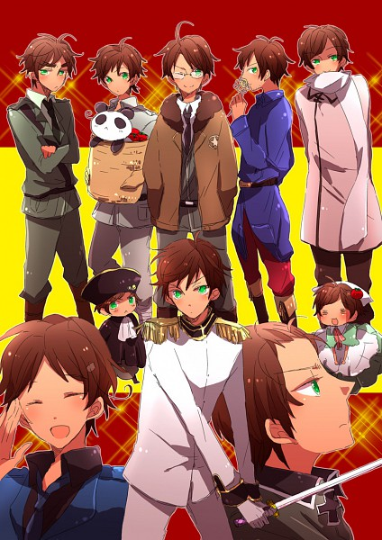 Tags: Anime, Saemi, Axis Powers: Hetalia, Spain, North Italy (Cosplay), Russia (Cosplay), China (Cosplay), United States (Cosplay), United Kingdom (Cosplay), Germany (Cosplay), France (Cosplay), Mobile Wallpaper, Pixiv