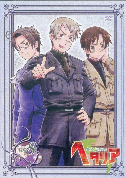 Tags: Anime, Kannan Masaaki, Studio DEEN, Axis Powers: Hetalia, South Italy, Austria, Prussia, Scan, DVD (Source), Official Art, Mobile Wallpaper, Germanic Countries, Mediterranean Countries