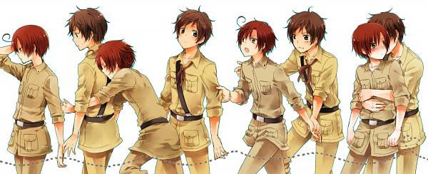 Tags: Anime, Bubblehour, Axis Powers: Hetalia, South Italy, Spain, Pixiv, Facebook Cover, Mediterranean Countries
