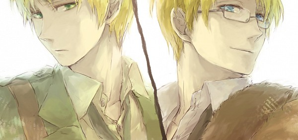Tags: Anime, Pixiv Id 2211140, Axis Powers: Hetalia, United States, United Kingdom, Facebook Cover, Fanart, Pixiv
