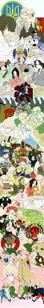 Tags: Anime, Pixiv Id 821019, Axis Powers: Hetalia, Estonia, Austria, Belarus, Latvia, Poland, Prussia, United Kingdom, Mongolia, Japan, Lithuania