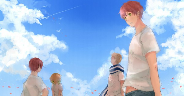 Tags: Anime, Nagano10, Axis Powers: Hetalia, South Italy, Spain, Netherlands, Belgium, Pixiv, Facebook Cover, Mediterranean Countries