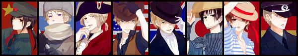 Tags: Anime, Hachiro, Axis Powers: Hetalia, France, Germany, Japan, North Italy, Russia, United Kingdom, China, United States, Pixiv, Fanart
