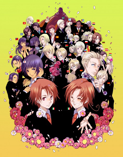 Tags: Anime, Axis Powers: Hetalia, Sweden, South Korea, Hungary, United Kingdom, South Italy, Taiwan, Lithuania, Canada, Hanatamago, France, United States