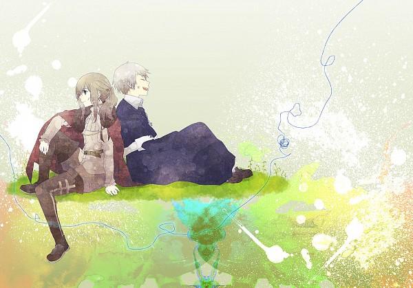 Tags: Anime, Jouji (Pixiv509592), Axis Powers: Hetalia, Prussia, Hungary