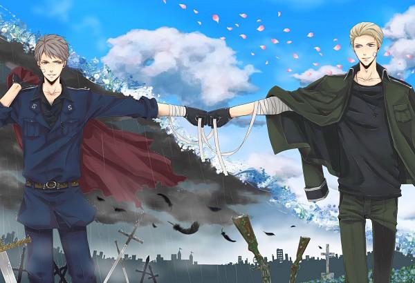 Tags: Anime, Orii (Pixiv1123766), Axis Powers: Hetalia, Germany, Prussia, Bro Fist, Axis Power Countries