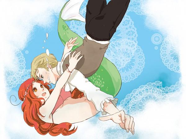 Tags: Anime, Little Mermaid, Axis Powers: Hetalia, North Italy (Female), Nyotalia, Mediterranean Countries, Axis Power Countries, Germanic Countries
