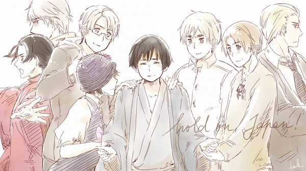 Tags: Anime, Tale Crystalicia, Axis Powers: Hetalia, Russia, United Kingdom, China, United States, Japan, Czech Republic, Germany, North Italy, Fan Character, Pray For Japan