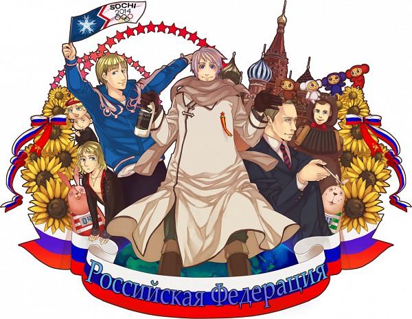 Tags: Anime, Mushi Kei, Axis Powers: Hetalia, Usavich, Vladimir Putin, Putin, Cheburashka, Moscow, Kirenenko, Evgeni Plushenko, Russia, Russian Text, Dmitryi Medvedev