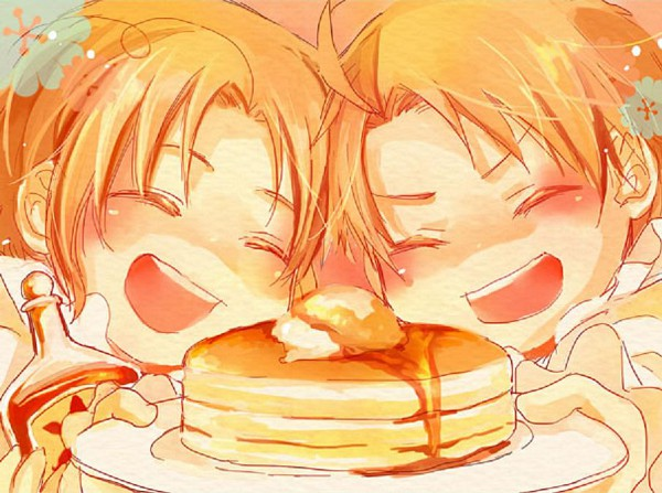 Tags: Anime, Axis Powers: Hetalia, United States, Canada, Syrup, Pancakes, Allied Forces