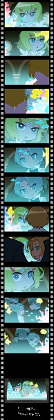 Tags: Anime, Pixiv Id 1220405, Axis Powers: Hetalia, Canada, United Kingdom, France, United States (Female), Filmstrip, Coral, Panty and Stocking with Garterbelt (Parody), PSG Character Design, Nyotalia, Allied Forces