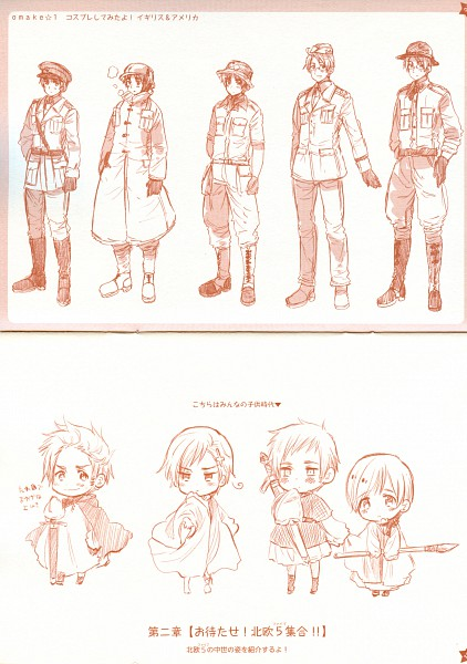 Tags: Anime, Axis Powers: Hetalia, United States, Finland, Sweden, Denmark, United Kingdom, Norway, War, World War II, Mobile Wallpaper, Allied Forces, Nordic Countries