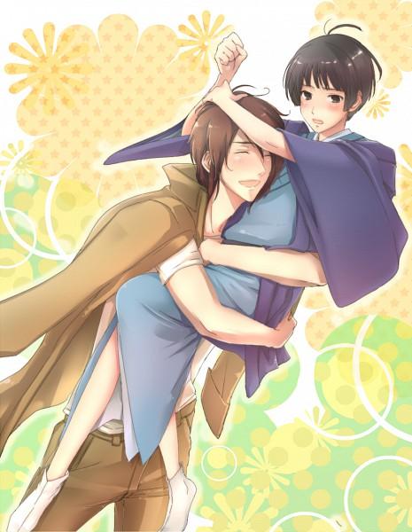 Tags: Anime, Imoko (Pixiv 809880), Axis Powers: Hetalia, Japan, Greece, Pixiv, Fanart, Mediterranean Countries, Axis Power Countries, Asian Countries, GiriPan