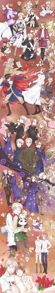 Tags: Anime, Pixiv Id 212648, Axis Powers: Hetalia, North Italy, Friedrich II, Switzerland, Russia, Maria-Theresa, Austriacat, Spain, Prussia, Holy Roman Empire, Prusscat