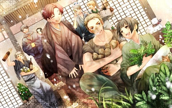 Tags: Anime, Hana (Yui), Axis Powers: Hetalia, Hetaoni, United States, China, Germany, Japan, Kumajirou, North Italy, Russia, Pochi-kun, United Kingdom