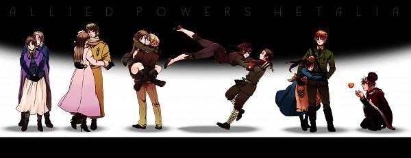 Tags: Anime, Nattou, Axis Powers: Hetalia, United Kingdom, France (Female), France, United States, Russia (Female), United Kingdom (Female), Russia, United States (Female), Prussia, Gilbird