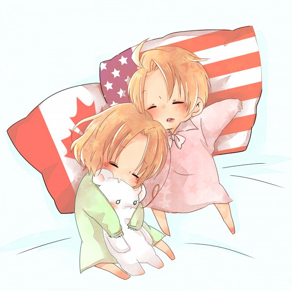 Tags: Anime, Mami Love Candy, Axis Powers: Hetalia, Kumajirou, Canada, United States, Pads