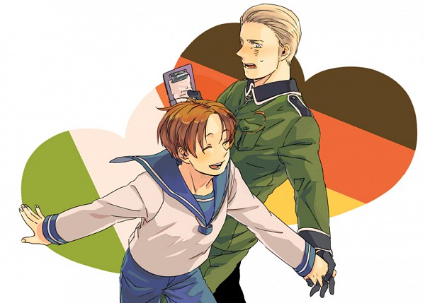 Tags: Anime, 3 6, Axis Powers: Hetalia, Germany, North Italy, Pixiv, Germanic Countries, Mediterranean Countries
