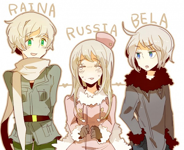 Tags: Anime, Pixiv Id 590354, Axis Powers: Hetalia, Ukraine (Male), Belarus (Male), Nyotalia, Soviet Union, Allied Forces