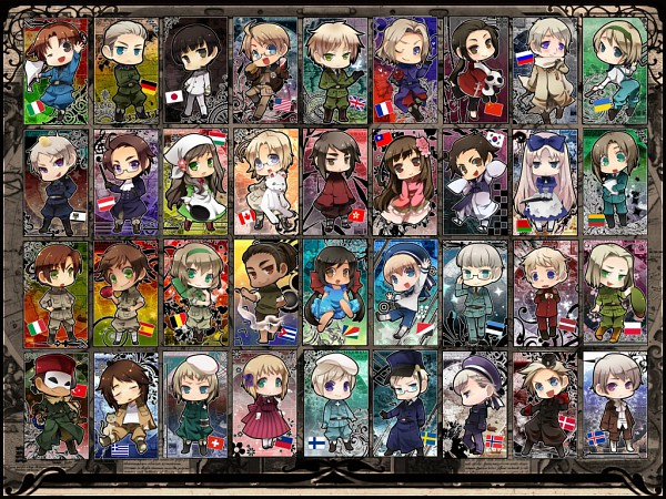 Tags: Anime, Hetaraion, Axis Powers: Hetalia, South Italy, France, Latvia, Denmark, Taiwan, Gilbird, Prussia, United Kingdom, Turkey, Belarus
