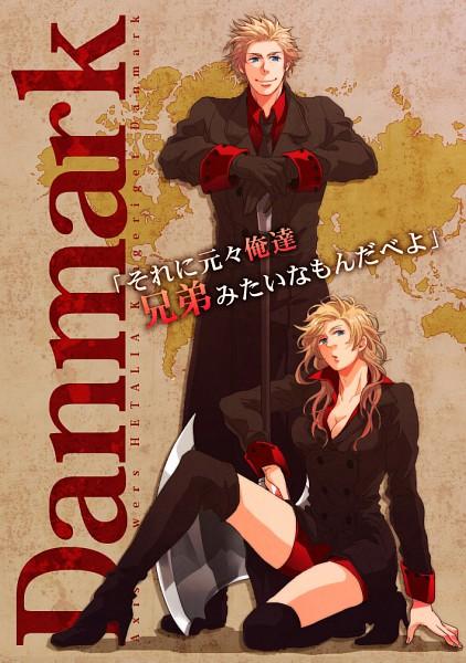 Tags: Anime, Juri Otoko, Axis Powers: Hetalia, Denmark, Denmark (Female), Map, Nyotalia, Pixiv, Mobile Wallpaper