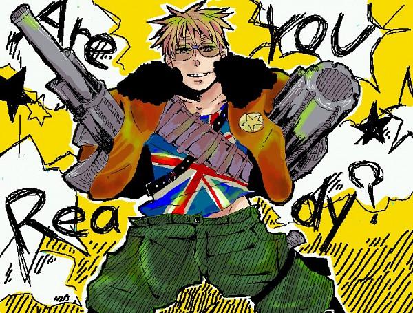 Tags: Anime, Axis Powers: Hetalia, United Kingdom, Bomber Jacket, Allied Forces