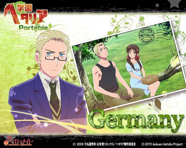 Tags: Anime, Kannan Masaaki, Axis Powers: Hetalia, Germany, Seychelles, Gakuen Hetalia, Official Art, Wallpaper, Official Wallpaper