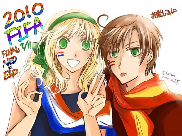 Tags: Anime, Axis Powers: Hetalia, Belgium, South Italy, 2010 FIFA World Cup, Mediterranean Countries