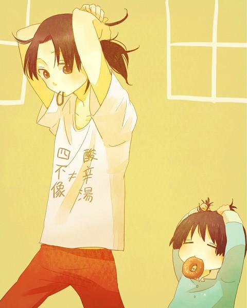 Tags: Anime, Mamimume Morisu, Axis Powers: Hetalia, Japan, China, Fanart, Pixiv