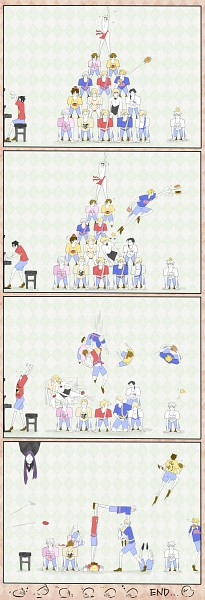 Tags: Anime, Pixiv Id 575882, Axis Powers: Hetalia, Prussia, Sweden, United States, Iceland, China, Denmark, Germany, Norway, France, Spain